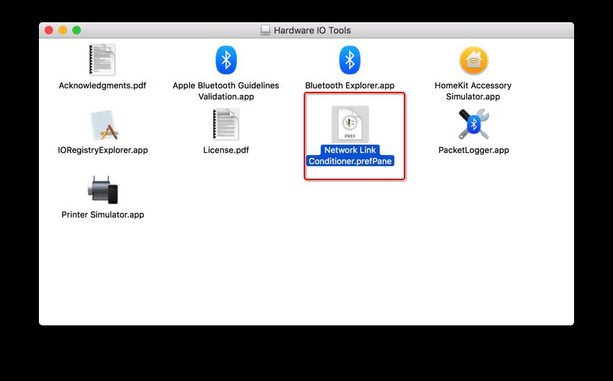 iOS模拟器慢网速测试工具之Hardware IO Tools