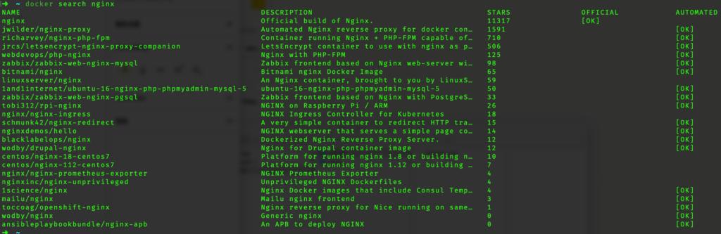 Mac下使用Docker安装Nginx